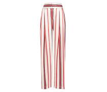 Gestreifte Wide Leg Pants Love Unconditionally aus Seidensatin