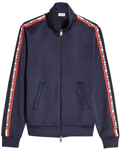 Zipper-Cardigan mit Logo-Borte