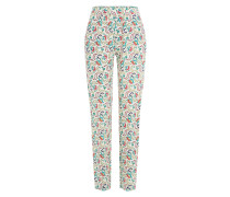 Print-Pants mit Paisley und Blüten