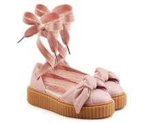 Sandalen aus Leder mit Schleife