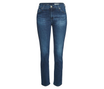 High Rise Straight Leg Jeans Mari aus Baumwoll-Stretch