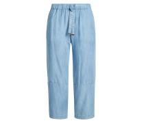 Cropped Pants im Denim Look