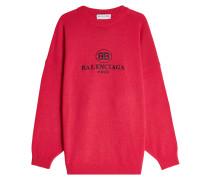 Bestickter Pullover aus Schurwolle und Kaschmir