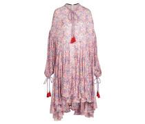 Bedrucktes Kleid mit Quasten