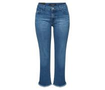 Mid Rise Crop Boot Cut Jeans Selena