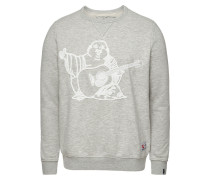 Sweatshirt mit Buddha-Applikation