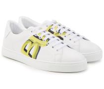 Bedruckte Sneakers Albert aus Lammleder
