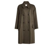 Zweireihiger Mantel mit Wolle
