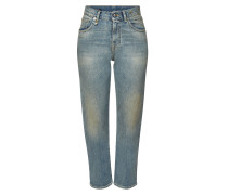High Rise Straight Leg Jeans Stove Pipe