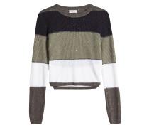 Gestreifter Pullover aus Leinen und Seide