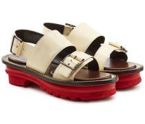 Sandalen aus Leder mit Profilsohle