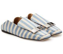 Gemusterte Slippers aus Jacquard