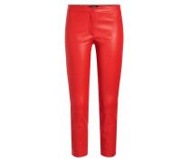 Cropped Skinny Pants aus Lammleder