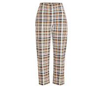 Karierte Cropped Pants
