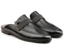 Loafers aus geprägtem Leder