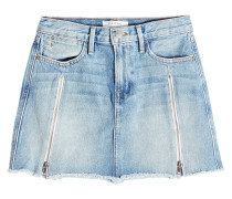Jeans-Minirock High aus Baumwolle