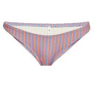 Gestreiftes Bikini-Höschen The Paloma aus Seersucker