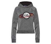 Verzierter Cropped Hoodie Space Karl