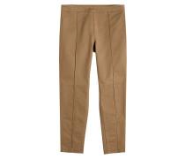 Cropped Straight Leg Pants aus Baumwolle