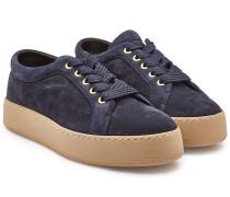 Plateau-Sneakers Jean aus Veloursleder