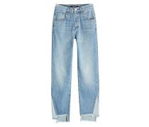 Cropped Straight Leg Jeans Wynne High-Rise aus Baumwolle