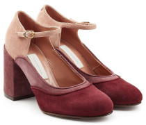 Mary Jane Pumps aus Veloursleder