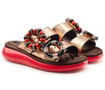 Verzierte Sandalen Sage aus Leder