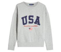 Besticktes Sweatshirt mit Baumwolle