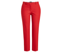 Cropped Straight Leg Pants mit Baumwolle