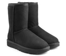 Boots Classic Short aus Veloursleder mit Schaffell