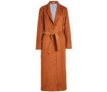 Langer Mantel mit Wolle