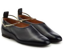 Loafers mit Metallriemchen