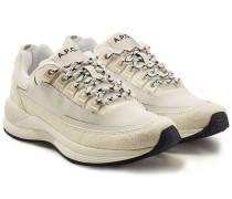 Sneakers Techno mit Veloursleder