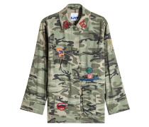 Bedruckte Jacke aus Baumwolle mit Patches