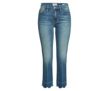 Flared Jeans Le Crop Mini Boot Scallop Hem