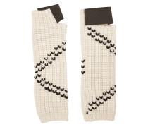 Bestickte Handschuhe aus Schurwolle