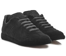 Low Top Sneakers Replica Sock aus Veloursleder