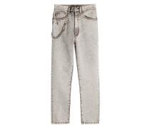 Bestickte Skinny Jeans mit Verzierungen