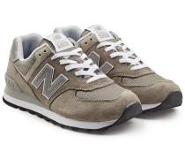 Sneakers ML574 aus Veloursleder und Mesh