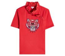 Besticktes T-Shirt Tiger Ruffle aus Baumwolle