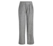 Karierte Wide Leg Pants Bobbi aus Wolle