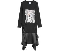 Bedrucktes Sweater Dress aus Baumwolle mit Satin