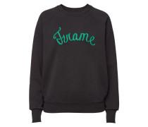 Besticktes Sweatshirt Old School aus Baumwolle