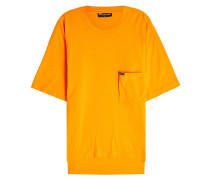 T-Shirt aus Baumwolle mit Logo-Brusttasche