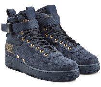 Mid Top Sneakers SF Air Force 1 aus Veloursleder und Mesh