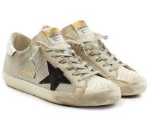 Sneakers Super Star aus Textil und Leder