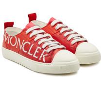 Bedruckte Sneakers Linda aus Leder
