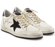 Sneakers Ball Star aus Leder und Baumwolle