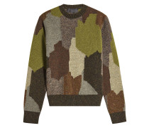 Wollpullover mit Camouflage-Muster