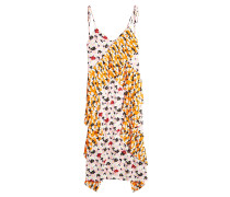 Bedrucktes Slip Dress mit Plissees